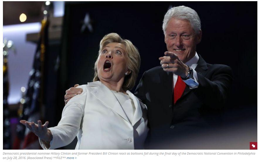 Clinton si Trump, doua note