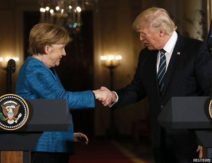 Merkel, la mijloc