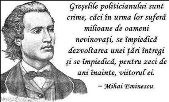 Eminescu, despre canalii, atît de actual.